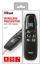 TRUST 20909 ELCEE WIRELESS LASER PRESENTER WITH LCD DISPLAY & TIMER, 6 FUNCTIONS