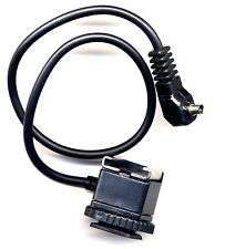30cm male PC sync cable cord to Camera flash hot shoe adapter hotshoe top