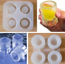 Silicone Shooters Ice Cube Shot Glass Freeze Mold Maker Tray Party Supplies 40aw