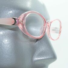 Fun Reading Glasses See Thru 50's Pink Jelly Whimsy Oval Jelly Frame +1.25 Lens