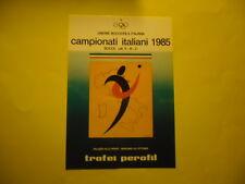 UNIONE BOCCIOFILA ITALIANA PALAZZO DELLO SPORT BERGAMO 1985 TROFEI PEROFIL