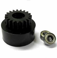 1/10 1/8 Scale .18 + Engine Clutch Bell Housing 19 Tooth Teeth 19T + 2 Bearings