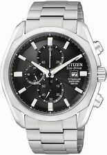 Citizen CA0020-56E Mens Eco Drive Sapphire Chronograph Titanium Date Watch