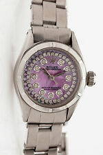 Estate $7000 PINK MOP Diamond Genuine ROLEX Oyster Ladies Watch & BOX & WARRANTY