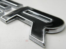 RANGE ROVER VOGUE L322 RAISED EDGE CHROME LIP BLACK REAR BACK BOOT BADGE EMBLEM