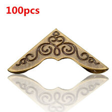 100pcs 23mm Corner Protector Brackets Bronze DIY for Book Photo Frame Album