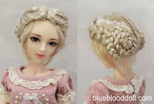 "1/3 bjd 8-9"" doll head blonde color vintage buns wig dollfie Luts Iplehouse"