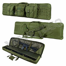 "VISM NcSTAR Tactical 46"" Padded Double Carbine Rifle Weapons Gun Case Bag Green"