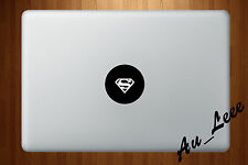 Macbook Air Pro Vinyl Skin Sticker Decal Shiny Superman Hero Logo Symbol M461