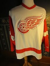 Red Wings White Sewn CCM NHL Hockey Jersey Adult Sz Large