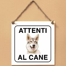 Northern Inuit 3 Attenti al cane Targa cane cartello ceramic tiles
