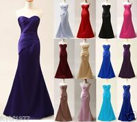 STOCK New Prom Party Ball Gown Formal Wedding Bridesmaid Evening Dress Size 6-18