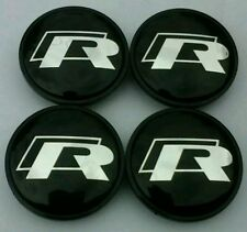 VW Volkswagen R-Line 65mm Wheel Centre Caps/Badge/Emblem Set of 4*UK QUICK POST*