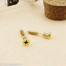 1PC Stainless Steel Metal Cross Nail Screws Ear Stud Lag Spike Hip Hop Earrings