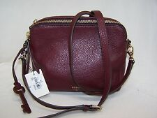 Fossil Sydney Small Maroon Leather Crossbody Bag HANDBAG ZB5951601 NWT