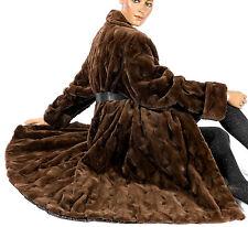 Pelisse vison vison manteau fourrure sheared Mink tondue samtnerz luxueux visone fur