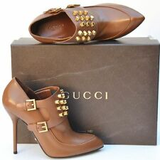 GUCCI New sz 37.5 - 7.5 Authentic Designer Studded Womens Heels Booties Shoes