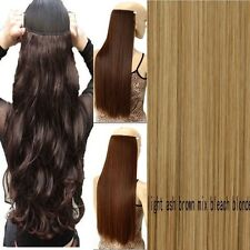 Real Thick 3/4Full Head Clip In Hair Extensions Long Straight Hair Extentions US