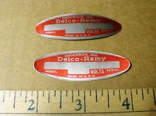 Vintage Delco Remy foil sticker decal Volts Starter alternator ignition 1950-60s