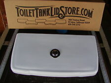 MPP Mansfield Toilet Tank Lid with Chrome actuator button, ribbed bottom 1A