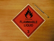 """150mm """"Flammable Liquid""""  decal sticker 