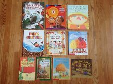 FALL AUTUMN SEASON Teacher Lot 10 Books LEAVES, Pumpkins & Phonemic Awareness CD
