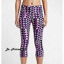Nike Legend London Diamond Womens Training Capris Tights M Fuchsia Purple New