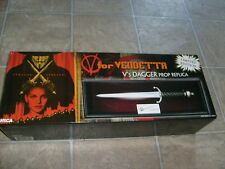 NECA V For Vendetta V's Dagger Prop Replica NEW MIB COMIC MOVIE