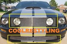 For 2005 2006 2007 2008 2009 Ford Mustang V8 Billet Grille Grill Combo inserts