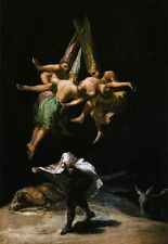 Handmade Oil Painting repro  Francisco de Goya Witches in the Air