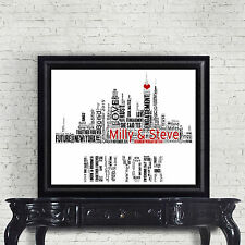 New York City Skyline Personalised Word Art Print - Engagement  or any Occasion