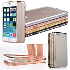 New Crystal Bling Metal Aluminum Bumper Case Cover for iPhone 4S 5S 6 Plus