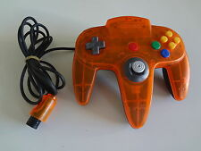 Nintendo 64 Controller Clear Orange & Black Daiei Hawks Nintendo Japan LOOSE