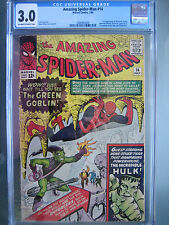 Amazing Spider-Man #14 CGC 3.0 OWW **1st Green Goblin** Marvel Comics 1964