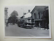 WALES158 - c1940s RED & WHITE BUS SERVICES PHOTO Abergavenny Monmouthshire Wales