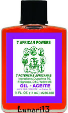 7 African Powers, Oil, Indio Products, 1/2 oz, Lunari13, Wicca, Santeria, Magick