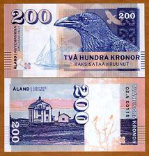 Aland Islands, 200 Kronor, 2016, Private Issue, Specimen, Essay UNC