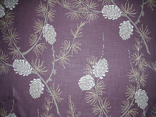 "VILLA NOVA CURTAIN FABRIC ""Norwood"" 2 METRES BERRY DELAWARE COLLECTION"