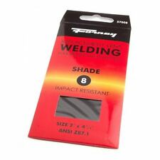 Pair of (2) Forney Industries 57008 Shaded Replacement Gas Welding Shade #8 Lens