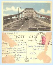 Bkue Water International Bridge Point Edward Ontario Canada 1950 Postcard Auto