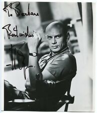 "YUL BRYNNER - orig. Autograph, 20x23cm - signed, inscribed (""To Barbara"")"