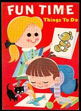 LARGE Vintage LOWE #9095 FUN TIME THINGS TO DO Activity Book-Coloring,Puzzles ++