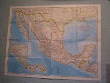 MEXICO & CENTRAL AMERICA MAP +AZTEC WORLD National Geographic December 1980 MINT