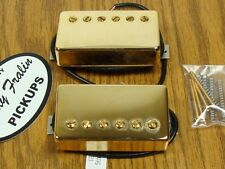 NEW Lindy Fralin Unbucker Humbucker PICKUP SET Gold Pickups 3 Conductor