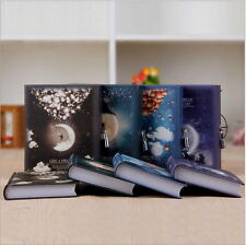 1pc Luxury Notebook with Lock Box Journal Diary Book Moonlight Notepad Gift UI
