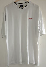 RETRO 90s UMBRO WHITE V NECK TEE SHIRT URBAN WAVEY FESTIVAL T-SHIRT UK XXL