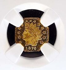 1876 CALIFORNIA FRACTIONAL OCTAG PROOF GOLD COIN INDIAN 50C NGC MS 64PL BG 949