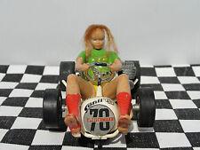FLEISCHMANN GO KART #10 GIRL DRIVER  1960'S 1:32  USED UNBOXED