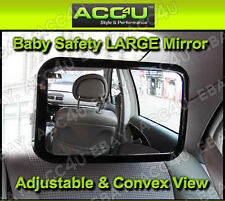Car Adjustable Rear View Back Seat Headrest Mount Baby Safety Rectangular Mirror