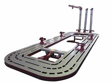 20 FEET LONG AUTO BODY SHOP FRAME MACHINE WITH FREE CLAMPS, TOOLS & TOOLS CART